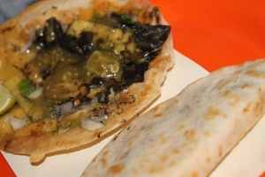 Gueca de Huitlacoche, una quesadilla para paladares avanzados