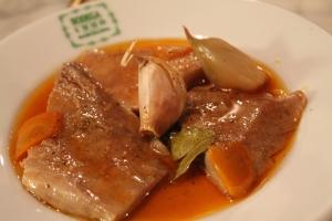 Ventresca casera de atún confitada en salsa catalana