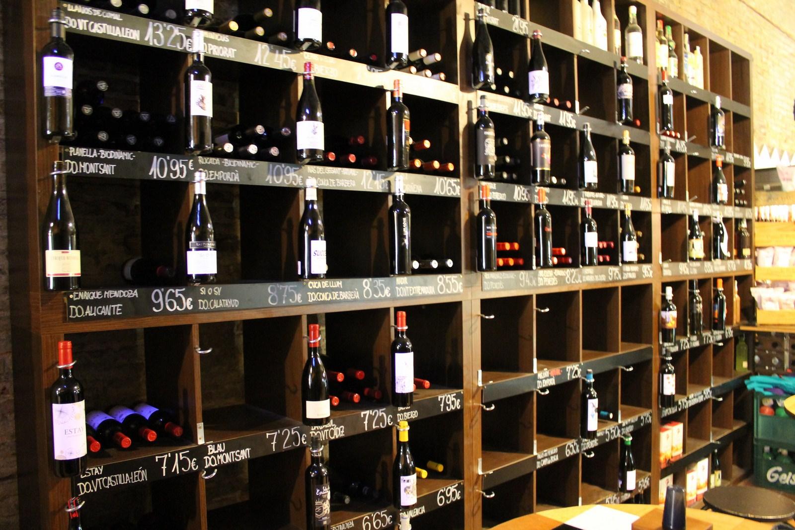 Estanter as de tienda de vino cultibar - Estanterias para bares ...
