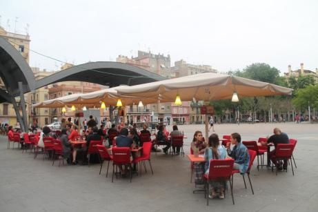 Terraza en La Barceloneta