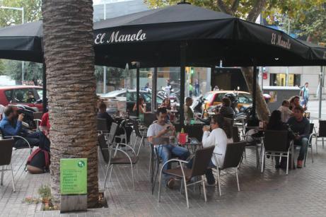 La terraza del bar El Manolo