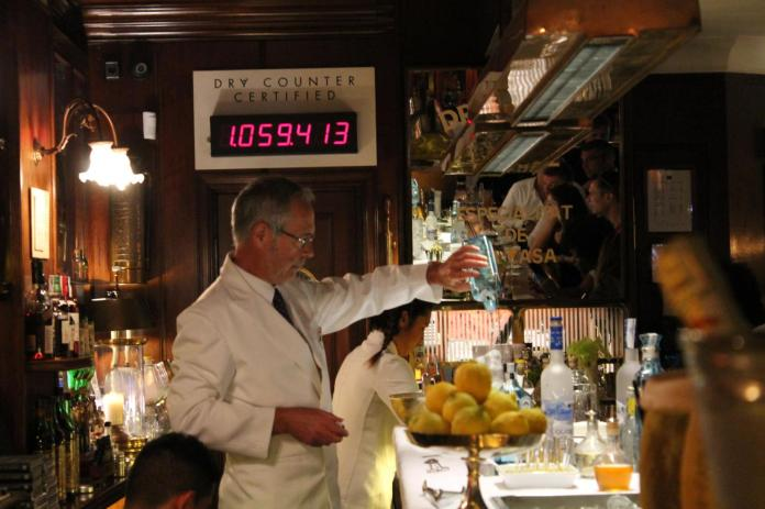 El contador de dry martinis